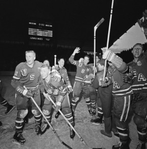 The US hockey team at the 1960 Winter Olympics in Squaw Valley