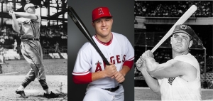Johnny Mize, Mike Trout, Ted Kluszewski