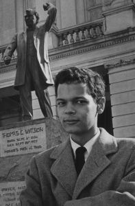 Julian Bond outside the Georgia State Capitol, 1966