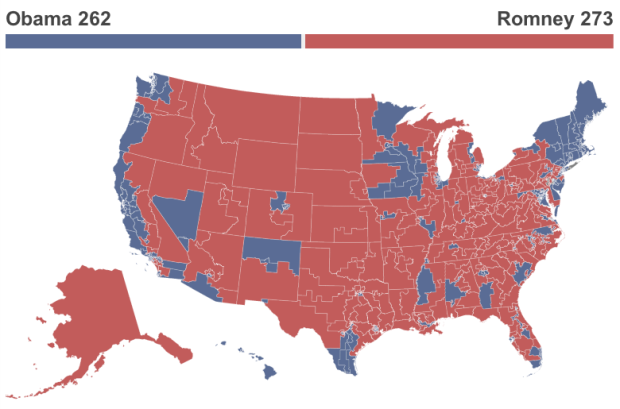 Map from Huffington Post